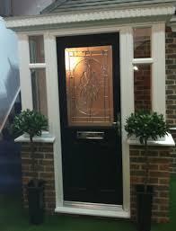porch with black posite door