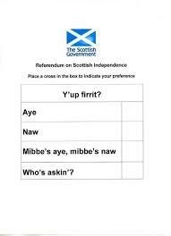 essay on scottish independence scottish independence referendum ballot