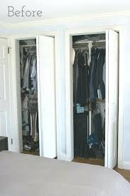 folding closet door hardware home depot best remodel doors replacing bi fold with curtains our makeover