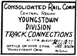 Conrail Track Charts Cr Youngstown 1986 Track Chart