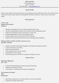 resumes for highschool graduates with little experience resume template