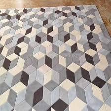 handmade modern carpet geometric living room wool rug cr22