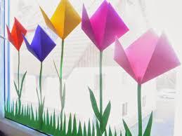 Pin Von Zaueqh Auf Papier Falten Basteln Frühling Fensterdeko