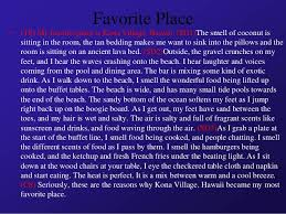 descriptive writing figurative language and sensory details 34 favorite place
