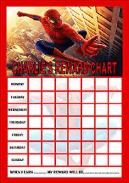 Spiderman Reward Charts Sada Margarethaydon Com