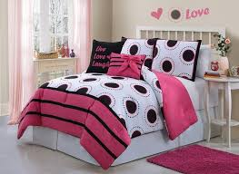 girls comforter sets white and pink color