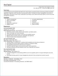 Accounts Payable Resume Beautiful Accounts Sample Resume Pour Eux Com