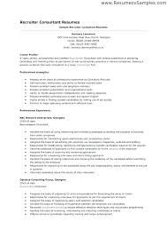 Recruiter Sample Resume Sample Resume Writing Coo Sample Resume ...