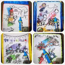 Sách vải tô màu ma thuật tự xóa cho bé tập vẽ bút nước thần kỳ xuất Mỹ –  Kidsmove - Thế giới xe của bé