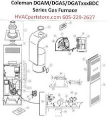 collections hvacpartstore dgam075bdc coleman gas furnace parts