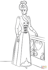 Small Picture Victorian Fashion coloring page Free Printable Coloring Pages