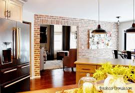 fake real exposed brick wall