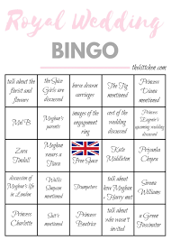 royal wedding bingo card 3 via thekittchen