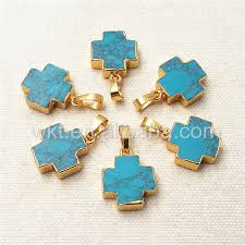 wt p952 amazing natural howlite cross pendant with gold trim small size natural howlite