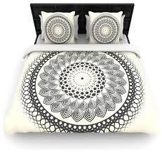 famenxt black and white boho mandala geometric duvet cover queen 88