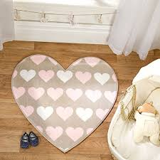 flair rugs nursery print heartfelt shaped childrens rug brown