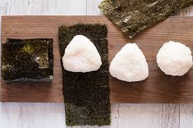 nori sheet onigiri japanese rice ball recipetin japan