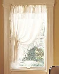 Embellished Short Curtain...country Sweet For A Small Window