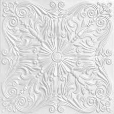 foam glue up ceiling tile in