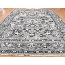 9 1 x12 6 natural colors mahal design grey peshawar hand knotted oriental rug