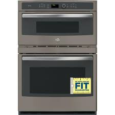 electric built in combination convection microwave wall oven in slate