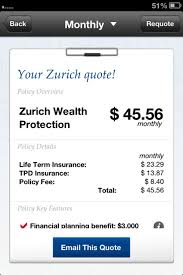 Zurich Life Insurance Quote