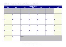 Office Calendar Template 2011