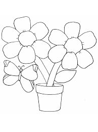 Butterfly Coloring Page Coloring Town Flower Color Page