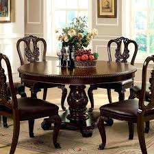 traditional round dining table furniture of traditional brown cherry finish round dining table
