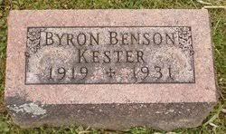Byron Benson Kester (1919-1931) - Find A Grave Memorial