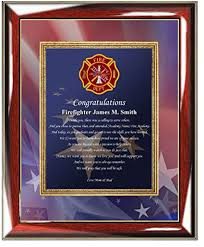 personalized fire fighter academy graduation gift of poetry custom poetry wall plaque fireman graduation present firefighter