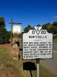 virginia dynasty james madison in custodia legis law roadside sign of montebello birthplace of zachary taylor photo by fernando o gonzalez