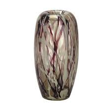get ations 13 75 antique white and tyrian purple roxbury decorative hand blown glass large vase