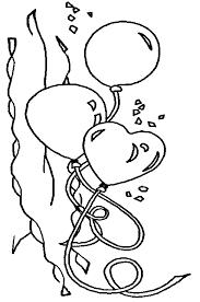 Kleurplaat Hartjes Ballonnen Kleurplaat Ballonnen Verjaardag