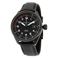 hamilton khaki takeoff air zermatt automatic men s watch leather hamilton khaki takeoff air zermatt automatic black dial black leather men s watch h76695733