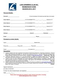 Club Membership Form Template Club Form Omfar Mcpgroup Co