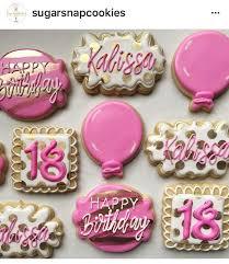 18th Birthday Cookies Cookie Exhange Birthday Cookies Cookies