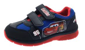 boys cars lightning mcqueen skate trainers casual character