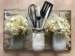 stylish ideas mason jar wall decor interior decorating mason sconce flowers optional kitchen utensil blue diy how to