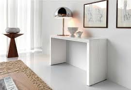 different impression of white lacquer console table  home decorations