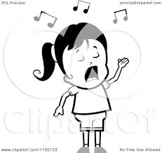 Small Picture Vector Of Cartoon Boy Singing In Choir Coloring Page Outline By