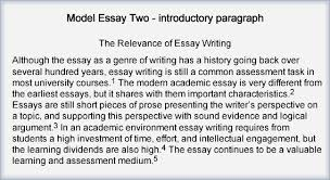 step write introduction and conclusion the learning centre  note that the thesis statement has been re worded picking up the idea from the first sentence that the essay has had a long history in the phrase