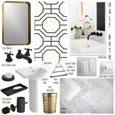 Matte Black and Brass in the Bathroom Claire Brody Designs