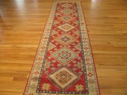 3 4 x 14 2 red and beige kazak geometric stani rug