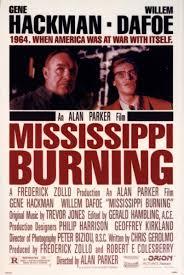 mississippi burning alan parker director writer producer mississippi burning one sheet poster gene hackman and willem dafoe