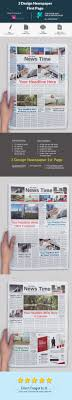Newspaper First Page Template 3 Design Newspaper First Page Newsletter Templates Pinterest