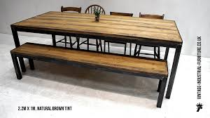 industrial look furniture. Refectory Table And Bench Set - Vintage Industrial Furniture Look G