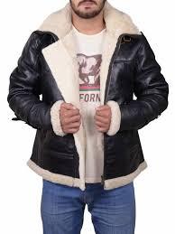 details about mens winter aviator raf b3 real shearling sheepskin leather er flying jacket