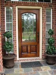 exterior doors wood and glass. exterior doors   designed glass with dark stained wood door and blind lights bayer built