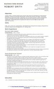 Sample Management Business Analyst Resume Business Data Analyst Cool Data Analyst Sample Resume